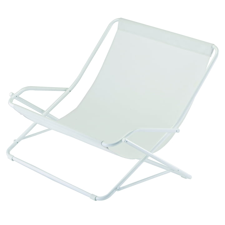Dondolina Twin swing chair in white by Fiam
