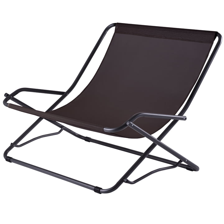 Dondolina Twin Swing Chair, black by Fiam