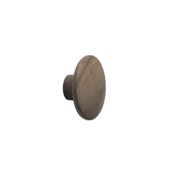 """Wall hook """"The Dots"""" single X-Small walnut by Muuto"""