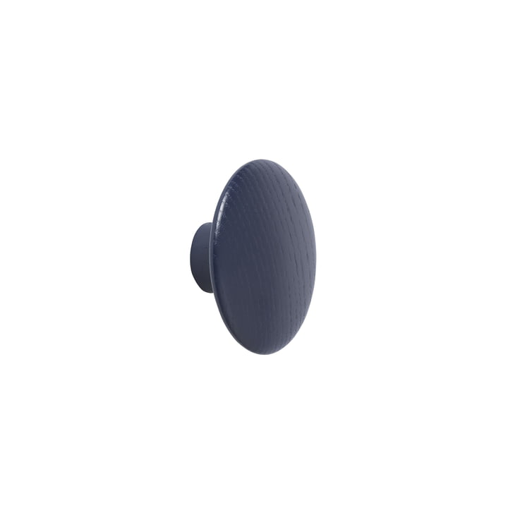 """Wall hook """"The Dots"""" single X-Small in midnight blue by Muuto"""