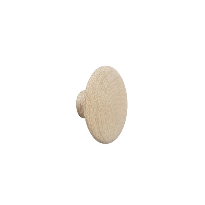 """Wall hook """"The Dots"""" single X-Small in oak by Muuto"""