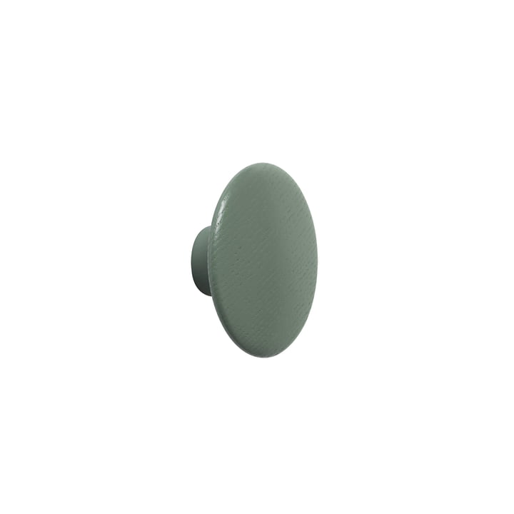 "Wall hook ""The Dots"" single X-Small in dusty green by Muuto"