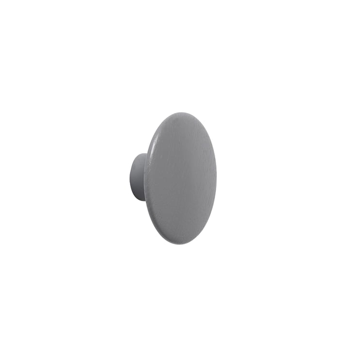"Wall hook ""The Dots"" single X-Small in dark grey by Muuto"