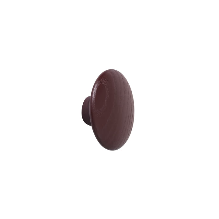 """Wall hook """"The Dots"""" single X-Small in burgundy from Muuto"""