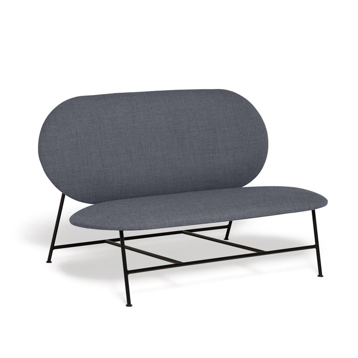 Oblong sofa from Northern in black / grey (Brusvik 05)