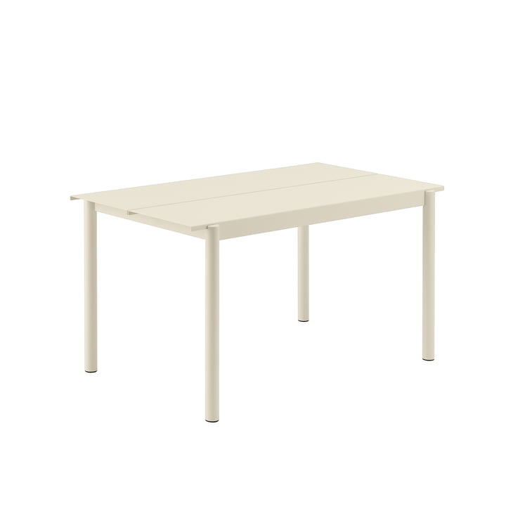 Linear Steel Table, 140 x 75 cm in white by Muuto