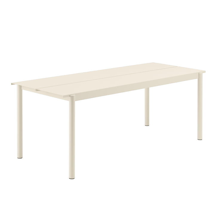 Linear Steel Table, 200 x 80 cm in white from Muuto