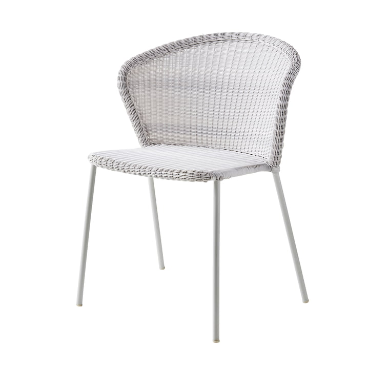 Lean Chair (5410) from Cane-line in white-grey