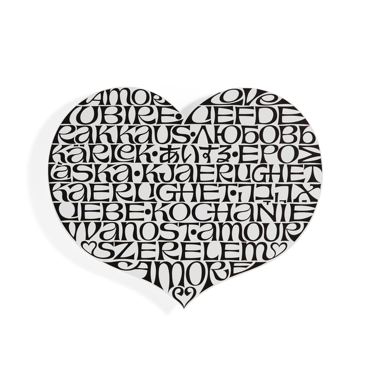 Metal Wall Relief International Love Heart by Vitra