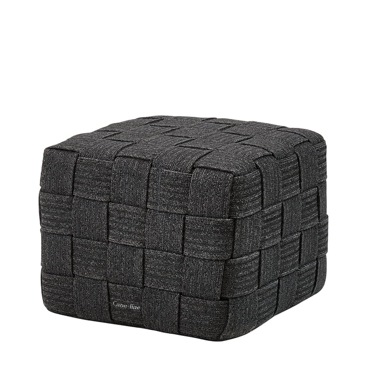Cube Stool (8340) from Cane-line in dark grey