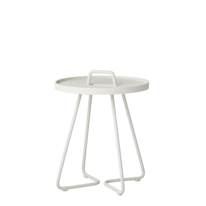 On-the-move side table Ø 37 x H 42 cm from Cane-line in white