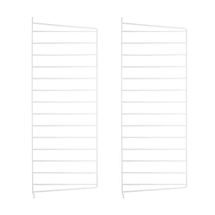 Set of 2 String - wall panel for String shelf 75 cm, white