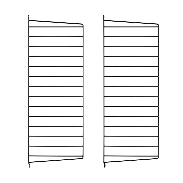Set of 2 by String - wall panel for String shelf 75 cm, black