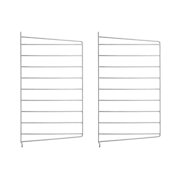 Wall ladder for String shelf 50 x 30 cm (set of 2) from String in zinc plated