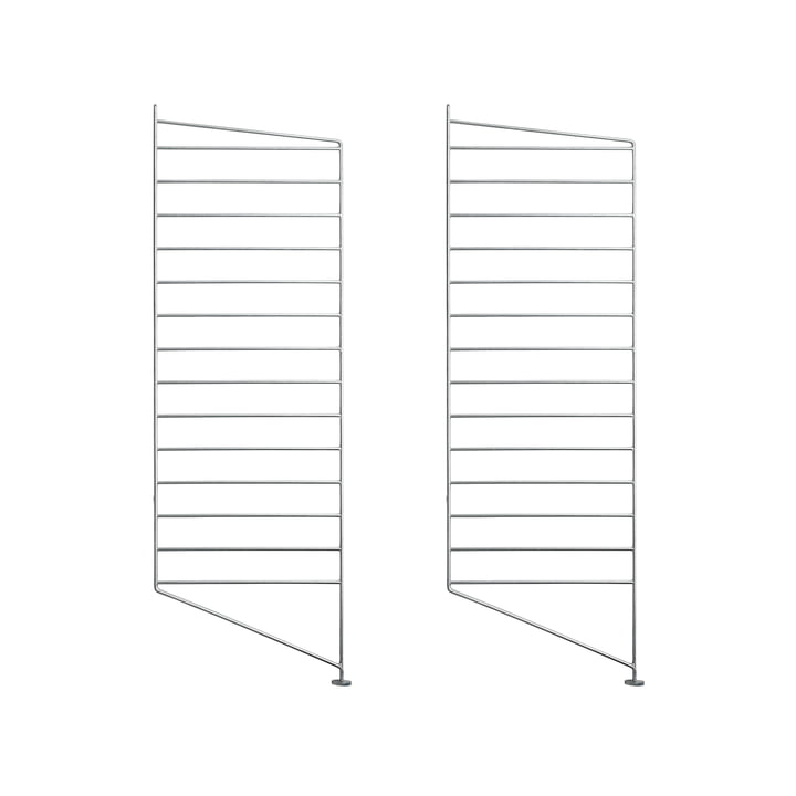 Floor ladder for String shelf 85 x 30 cm (set of 2) from String in zinc plated