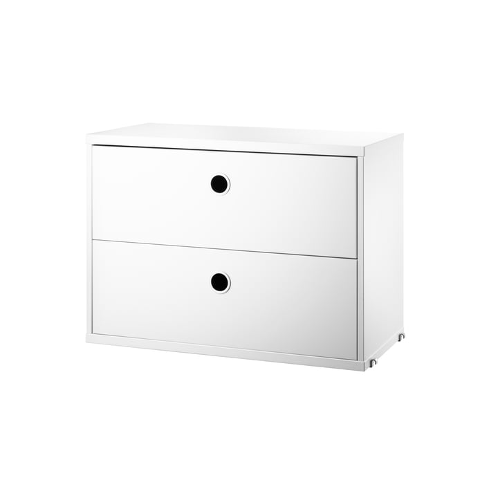 Cabinet module with drawers 58 x 30 cm from String in white