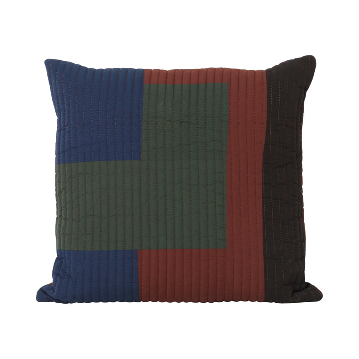 Shay Quilt pillow, 50 x 50 cm in cinnamon by ferm Living