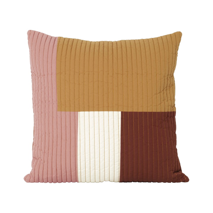 Shay Quilt cushion, 50 x 50 cm in mustard by ferm Living