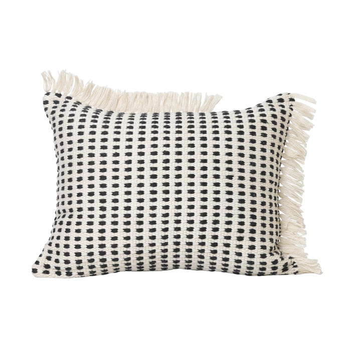 Way Outdoor cushion, 70 x 50 cm in off-white / blue by ferm Living
