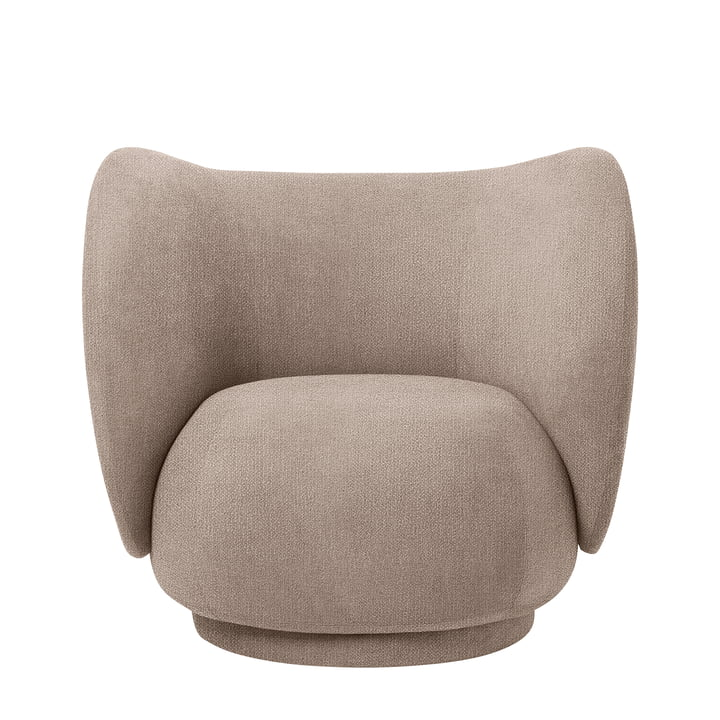 Rico Lounge Chair, Bouclé sand by ferm Living
