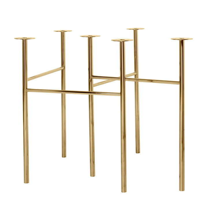 Mingle table stands W 68, height adjustable / brass (set of 2) by ferm Living