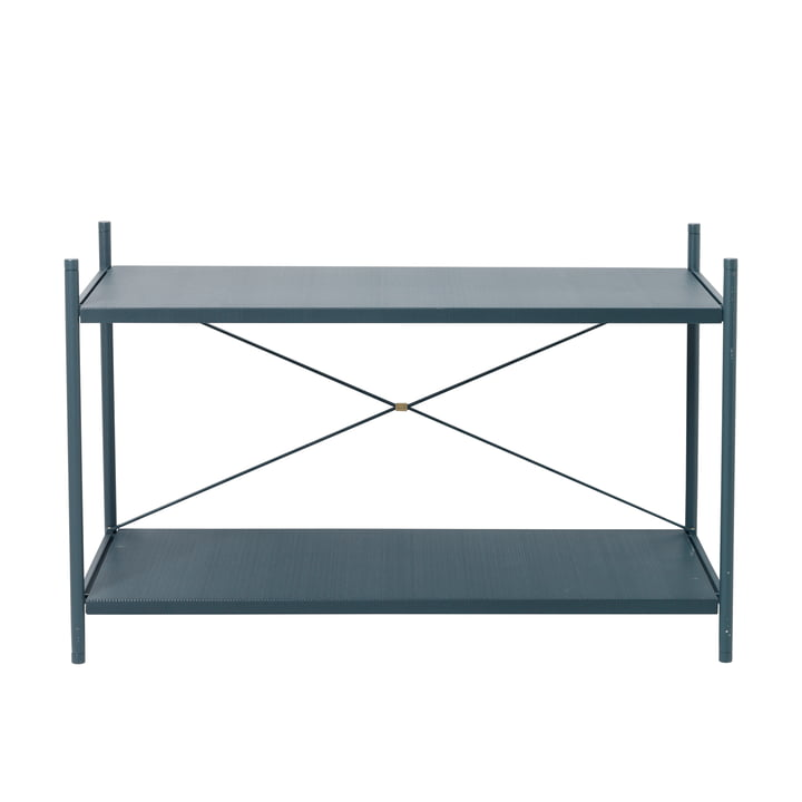 Punctual shelving system 1x2 in dark blue by ferm Living