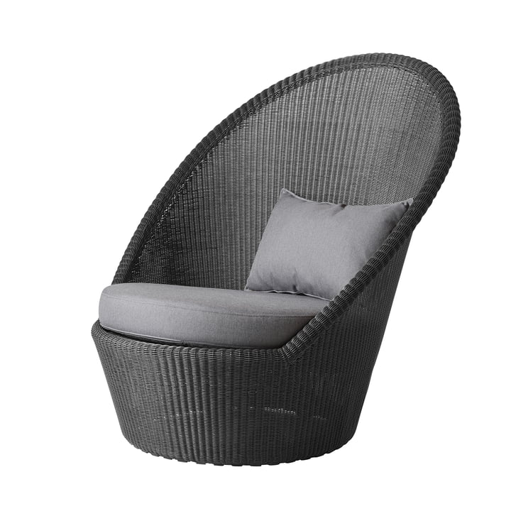 Cushion set for Kingston Sunchair (5448) from Cane-line in light grey