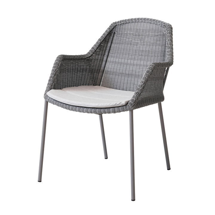 Seat cover for Breeze armchair stackable from Cane-line in light grey