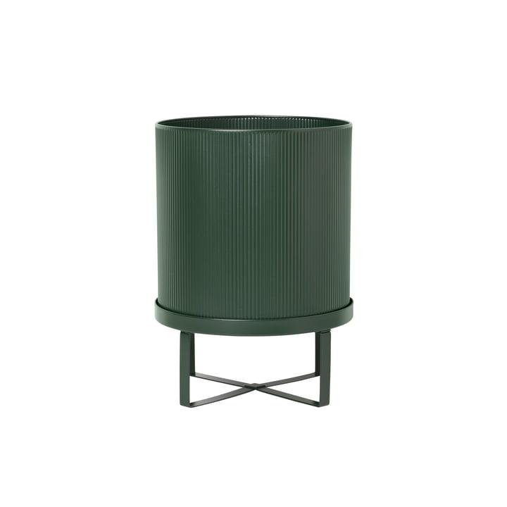 Bau Plant pot, Ø 18 x H 24 cm, dark green by ferm Living