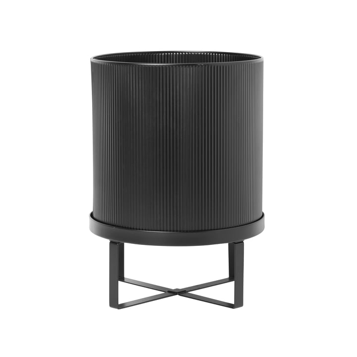 Bau Plant pot, Ø 28 x H 38 cm, black by ferm Living