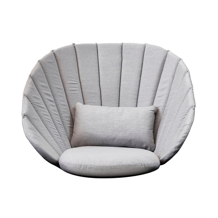 Cushion set (3 pcs.) for Peacock Lounge Armchair from Cane-line in light grey