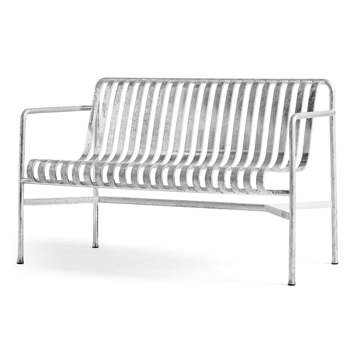 Palissade Dining Bench from Hay in hot galvanised