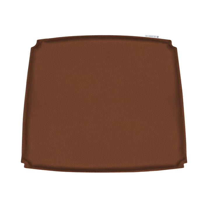 Seat cushion for CH26 armchair by Carl Hansen in brown leather (Loke 7748)