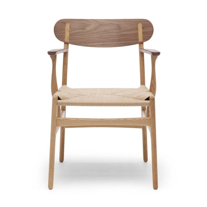 CH26 Armchair by Carl Hansen in oak oiled / walnut oiled / nature