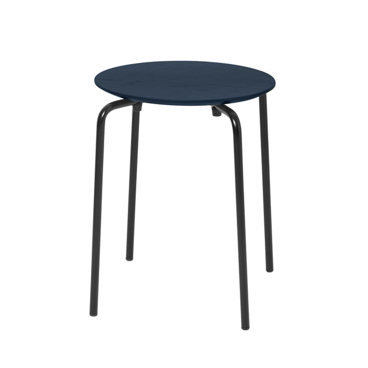 Herman stool from ferm Living in dark blue