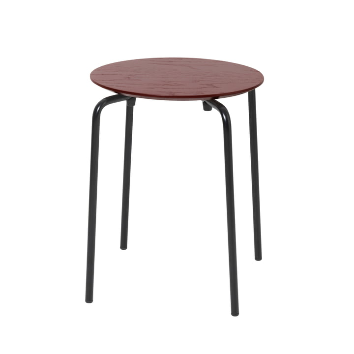 Herman stool from ferm Living in reddish brown