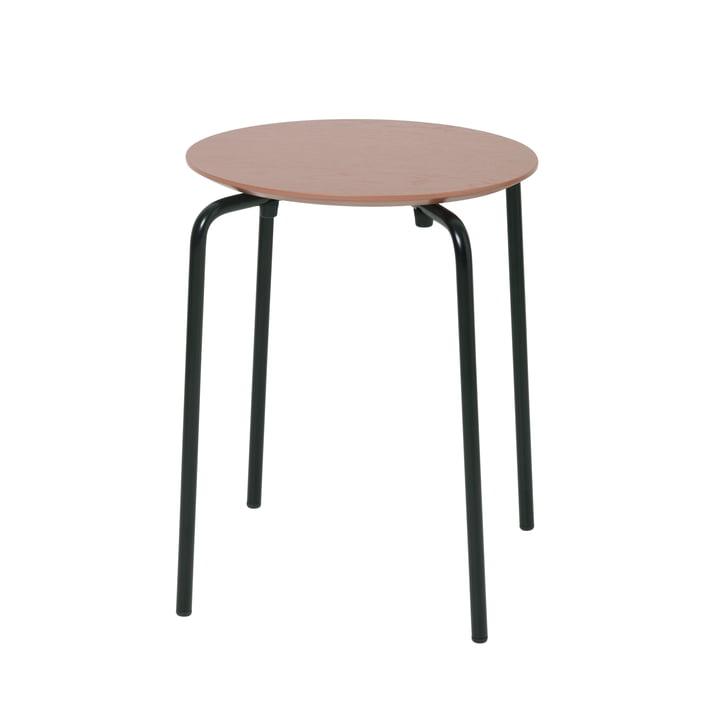 Herman stool by ferm Living in dark rose