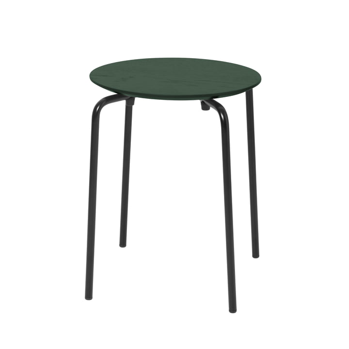 Herman stool from ferm Living in dark green