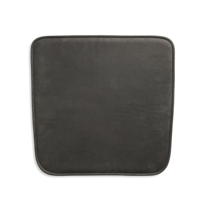 Seat cushion for Hven armchair by Skagerak in anthracite black (Protected Leather)