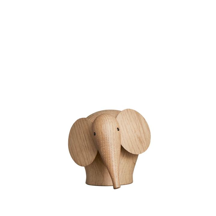Nunu Elephant in mini from Woud in oak matt lacquered