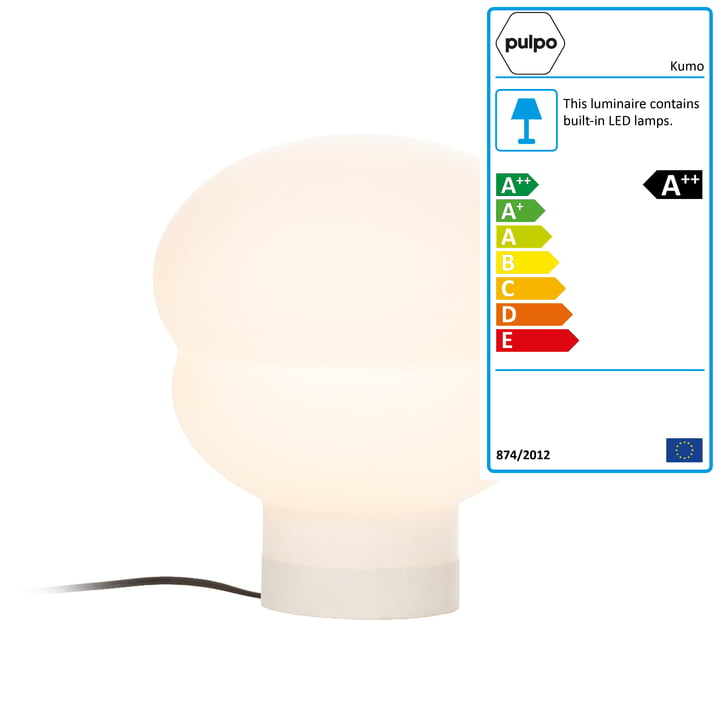 Kumo table lamp small by Pulpo in white