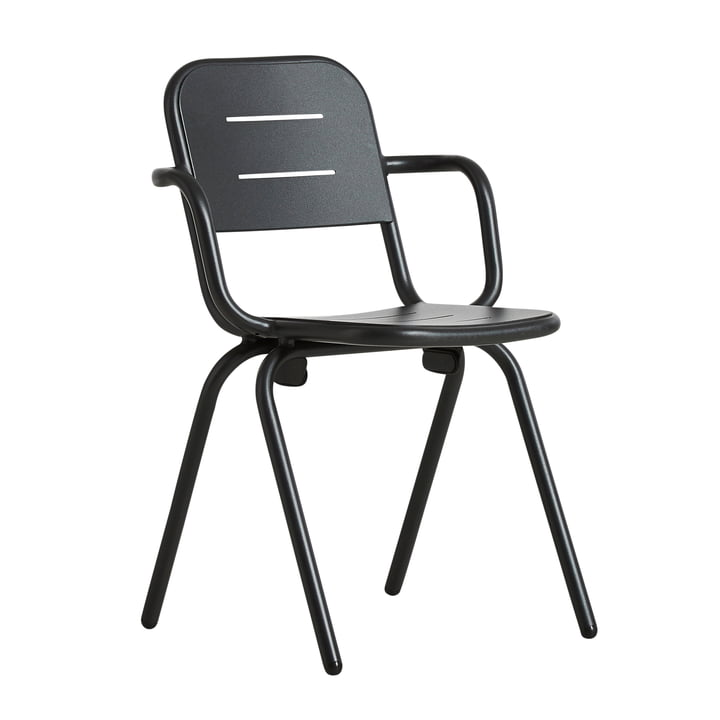 Ray Café Armchair from Woud in charcoal