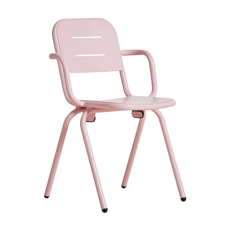 Ray Café Armchair by Woud in rose pink