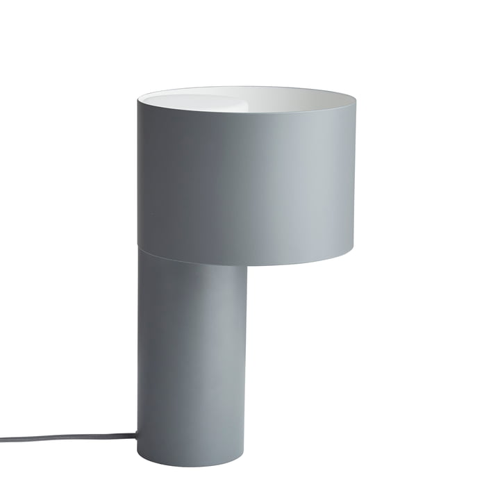Tangent table lamp from Woud in cool grey