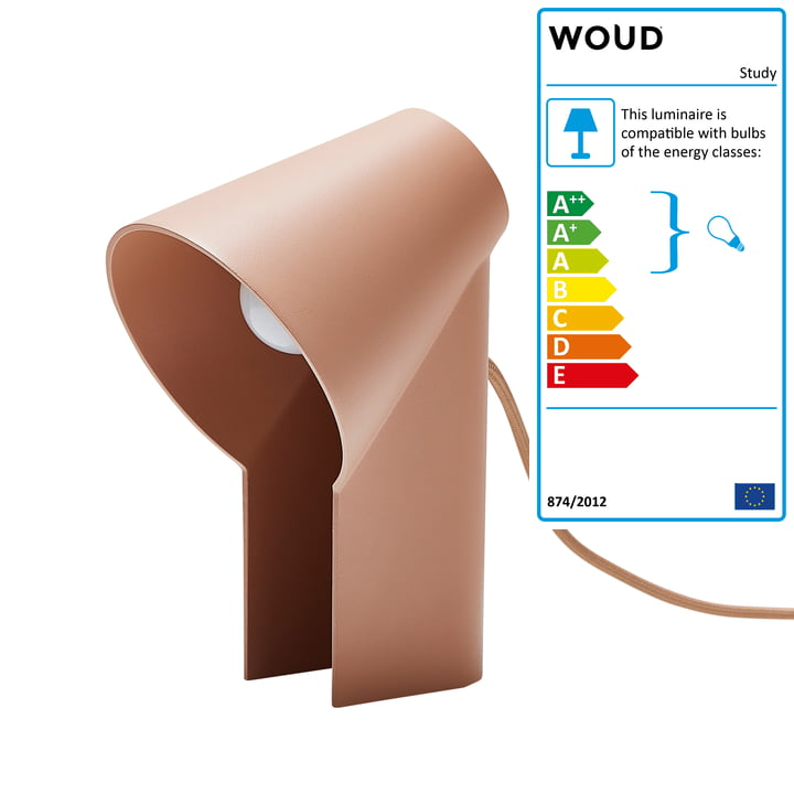 Study table lamp from Woud in apricot