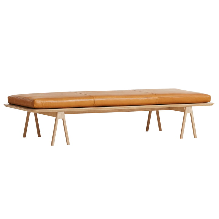 Level Daybed from Woud in oak / cognac