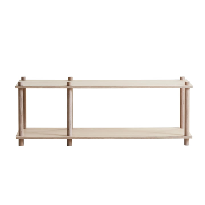 Elevate shelving system, system 1 by Woud in oak matt lacquered