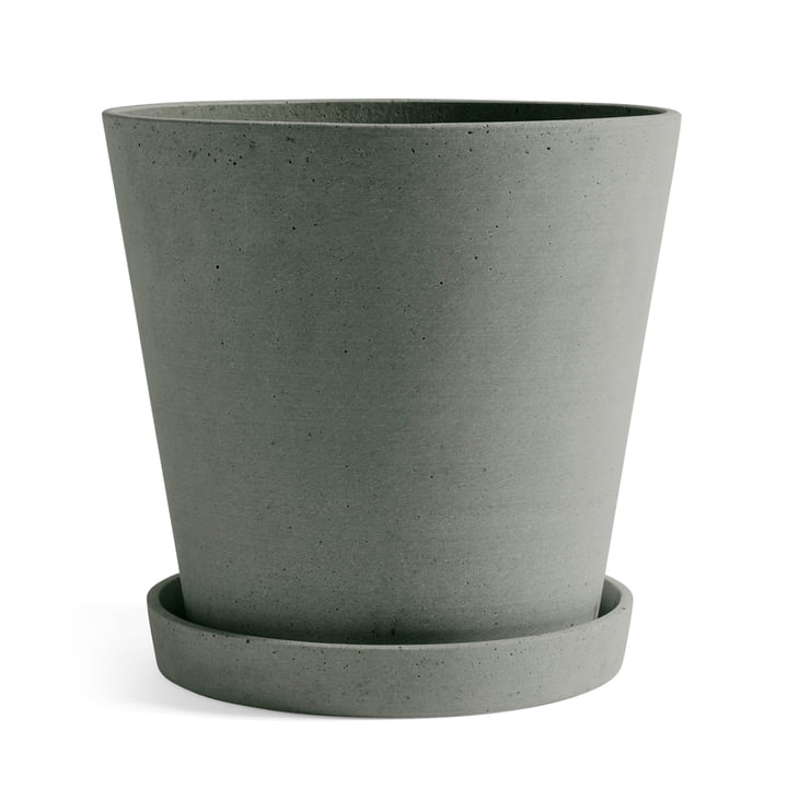 Flowerpot with saucer XXL from Hay in green