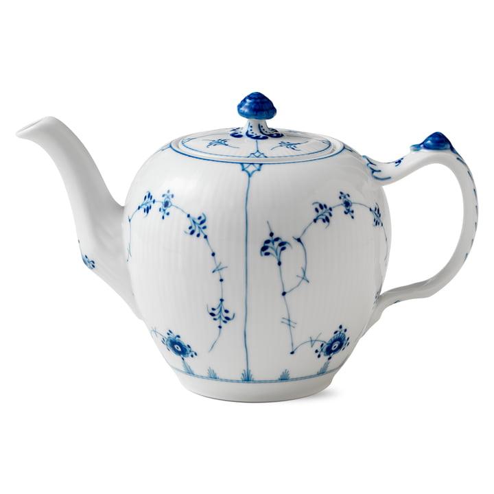 Musselmalet Ribbed Teapot 1 l by Royal Copenhagen