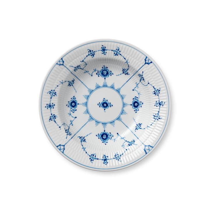 Musselmalet Ribbed plate deep Ø 21 cm from Royal Copenhagen